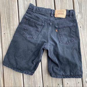 Vintage Levi's - orange tab, black denim shorts